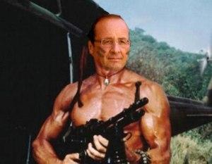 """Hollande représenté par """"The Telegraph""""...."""